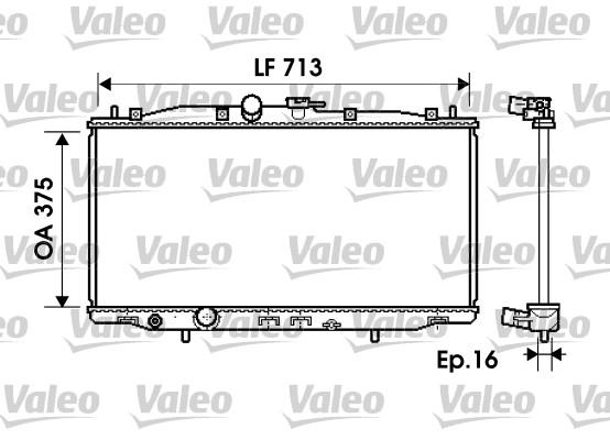 Radiateur, refroidissement du moteur - VALEO - 734703