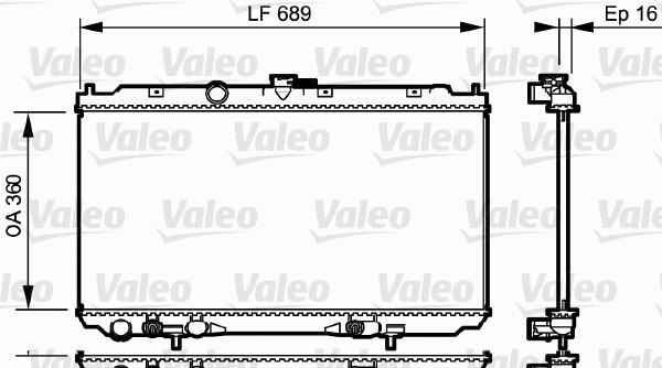 Radiateur, refroidissement du moteur - VALEO - 734706