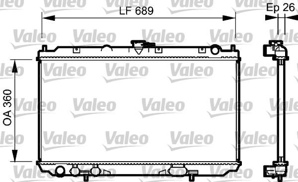 Radiateur, refroidissement du moteur - VALEO - 734708