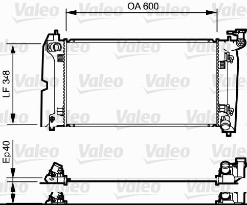 Radiateur, refroidissement du moteur - VALEO - 734711