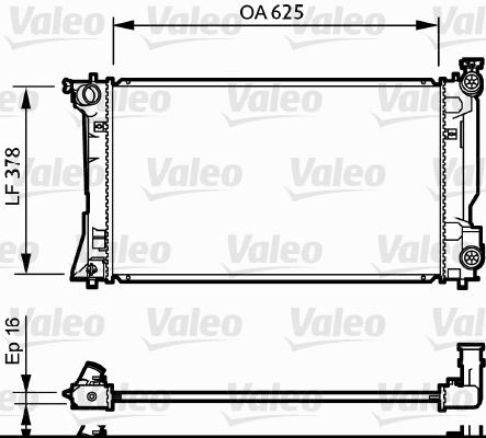 Radiateur, refroidissement du moteur - VALEO - 734712