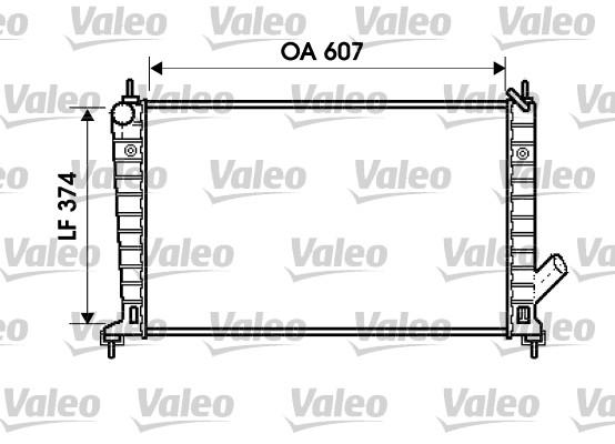 Radiateur, refroidissement du moteur - VALEO - 734714