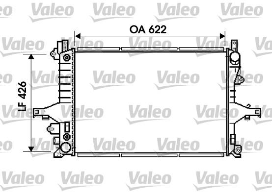 Radiateur, refroidissement du moteur - VALEO - 734720