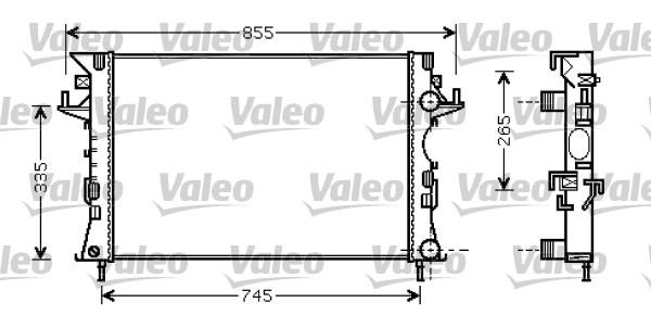 Radiateur, refroidissement du moteur - VALEO - 734728