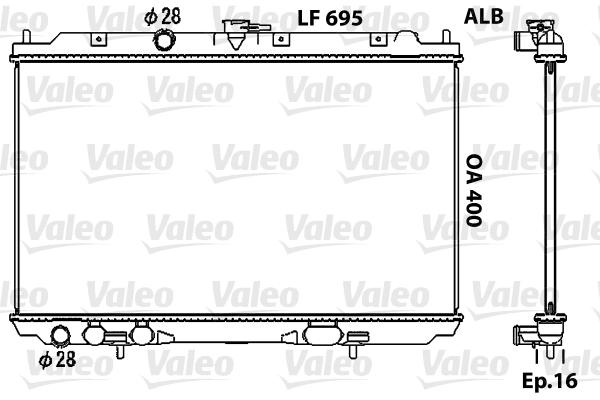 Radiateur, refroidissement du moteur - VALEO - 734729