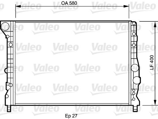 Radiateur, refroidissement du moteur - VALEO - 734733