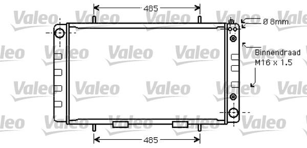 Radiateur, refroidissement du moteur - VALEO - 734734