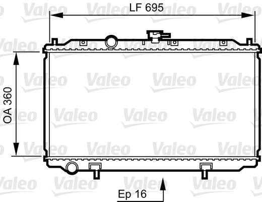 Radiateur, refroidissement du moteur - VALEO - 734736
