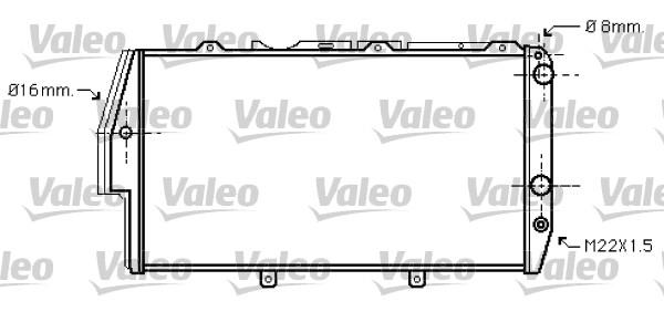 Radiateur, refroidissement du moteur - VALEO - 734738