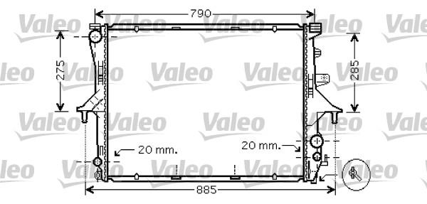 Radiateur, refroidissement du moteur - VALEO - 734739