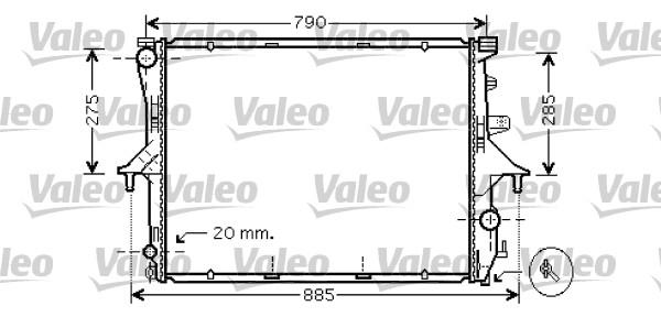 Radiateur, refroidissement du moteur - VALEO - 734740
