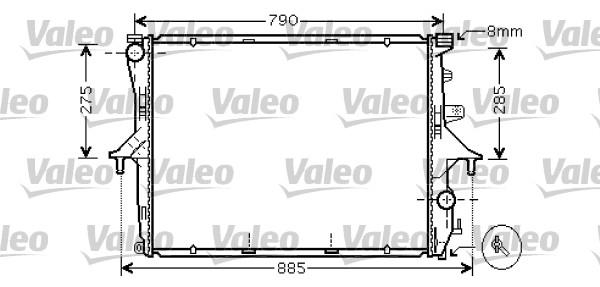 Radiateur, refroidissement du moteur - VALEO - 734741