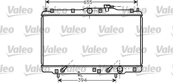 Radiateur, refroidissement du moteur - VALEO - 734747