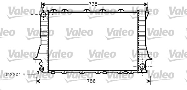 Radiateur, refroidissement du moteur - VALEO - 734751