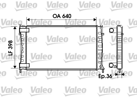 Radiateur, refroidissement du moteur - VALEO - 734760