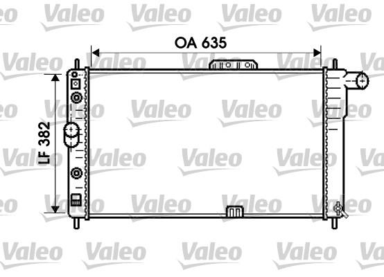 Radiateur, refroidissement du moteur - VALEO - 734761