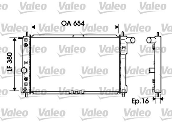 Radiateur, refroidissement du moteur - VALEO - 734764