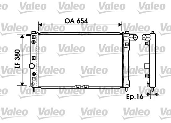 Radiateur, refroidissement du moteur - VALEO - 734765