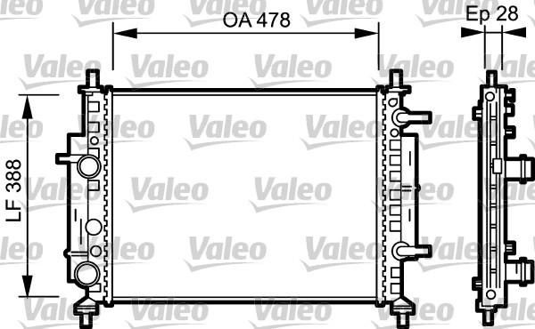 Radiateur, refroidissement du moteur - VALEO - 734768