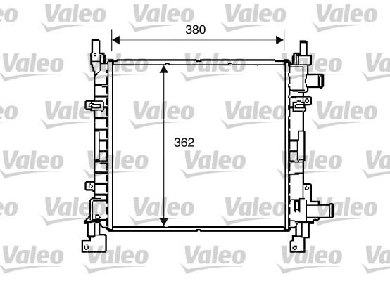 Radiateur, refroidissement du moteur - VALEO - 734772