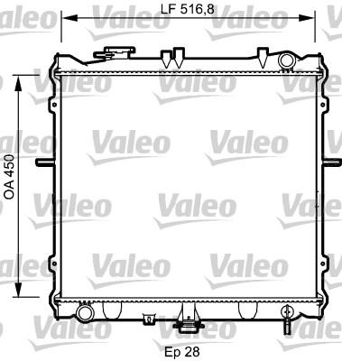 Radiateur, refroidissement du moteur - VALEO - 734788
