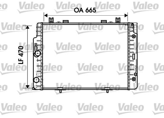 Radiateur, refroidissement du moteur - VALEO - 734793