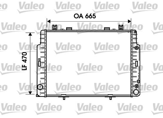 Radiateur, refroidissement du moteur - VALEO - 734795
