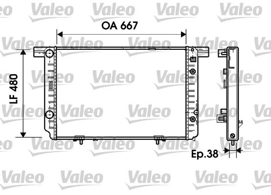 Radiateur, refroidissement du moteur - VALEO - 734799