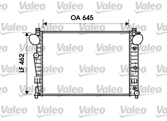 Radiateur, refroidissement du moteur - VALEO - 734801