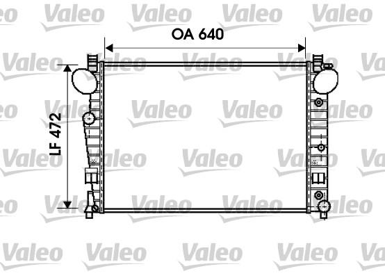 Radiateur, refroidissement du moteur - VALEO - 734802