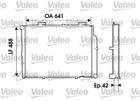 Radiateur, refroidissement du moteur - VALEO - 734803