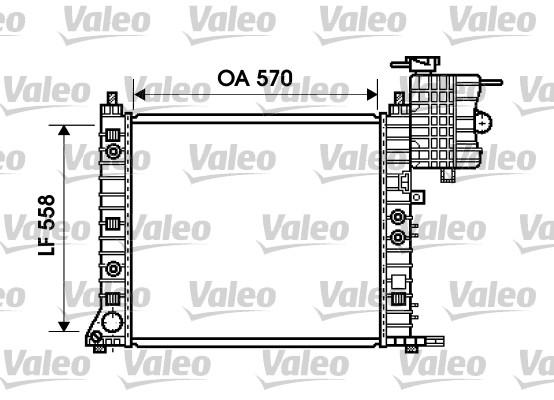 Radiateur, refroidissement du moteur - VALEO - 734806