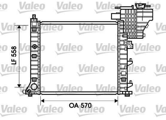 Radiateur, refroidissement du moteur - VALEO - 734807