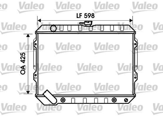 Radiateur, refroidissement du moteur - VALEO - 734809