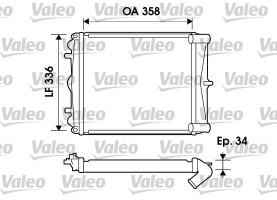 Radiateur, refroidissement du moteur - VALEO - 734826