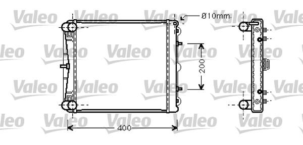 Radiateur, refroidissement du moteur - VALEO - 734827
