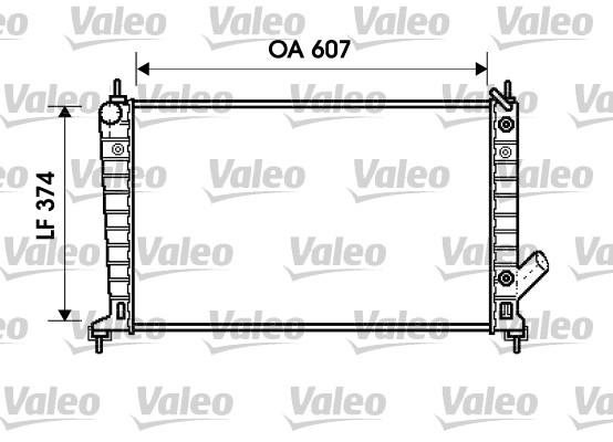 Radiateur, refroidissement du moteur - VALEO - 734830
