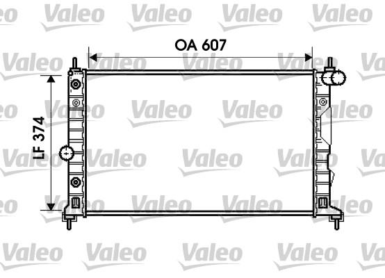Radiateur, refroidissement du moteur - VALEO - 734831