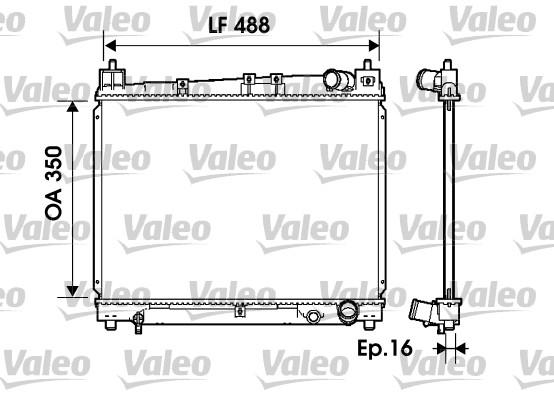 Radiateur, refroidissement du moteur - VALEO - 734840