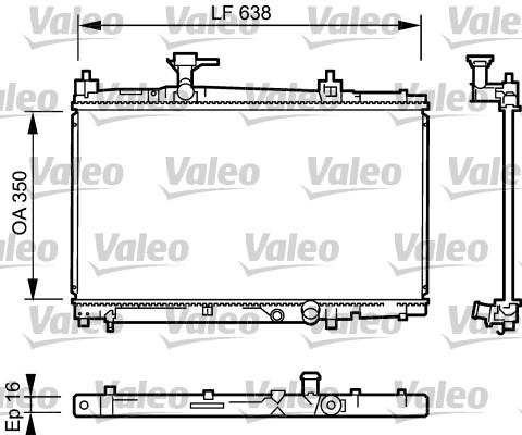 Radiateur, refroidissement du moteur - VALEO - 734842