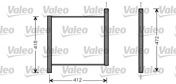 Radiateur, refroidissement du moteur - VALEO - 734848