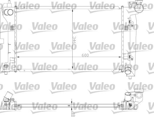 Radiateur, refroidissement du moteur - VALEO - 734851