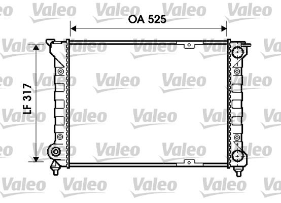 Radiateur, refroidissement du moteur - VALEO - 734853
