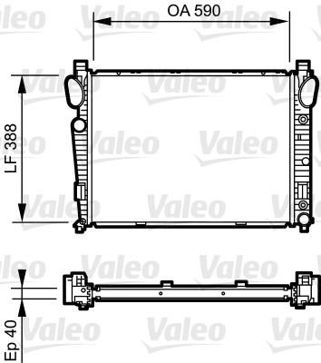 Radiateur, refroidissement du moteur - VALEO - 734855