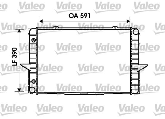 Radiateur, refroidissement du moteur - VALEO - 734856