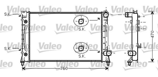 Radiateur, refroidissement du moteur - VALEO - 734859