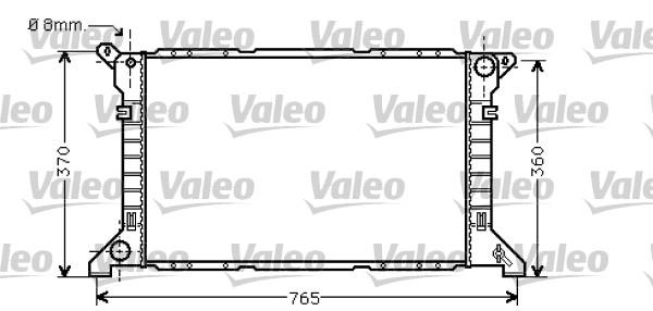 Radiateur, refroidissement du moteur - VALEO - 734862