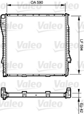 Radiateur, refroidissement du moteur - VALEO - 734894