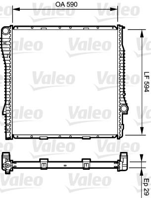Radiateur, refroidissement du moteur - VALEO - 734896