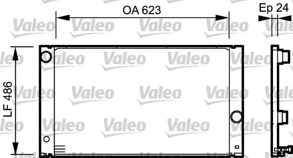 Radiateur, refroidissement du moteur - VALEO - 734898